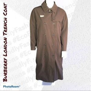 Burberry London Denise Trench Coat Brown, Size 10